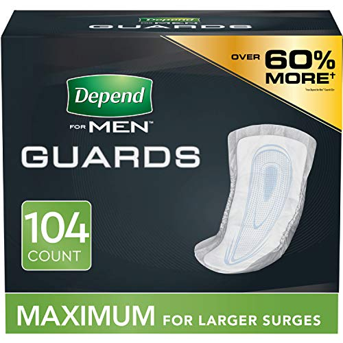 Depend Incontinence Guards/Bladder Control Pads for Men, Maximum...