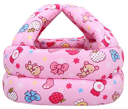 Simplicity Baby Infant Toddler No Bumps Safety Helmet Head Cushion, Pink...