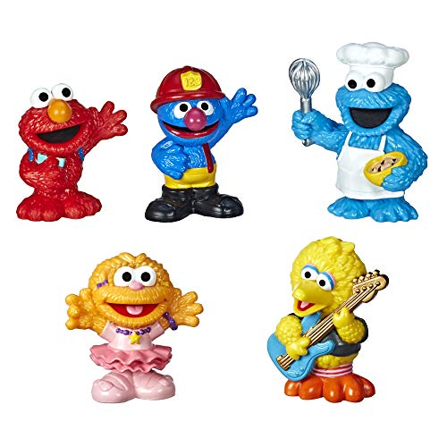 -Sesame-Street Neighborhood Friends Includes 5 Figures, 3-inches, Classic...