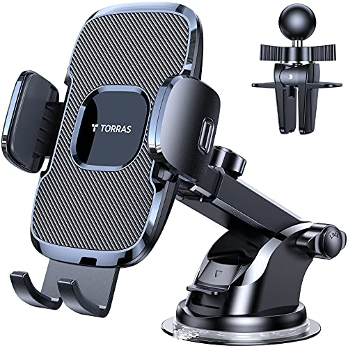 TORRAS [Ultra-Durable] Cell Phone Holder for Car, Universal Car Phone Mount...