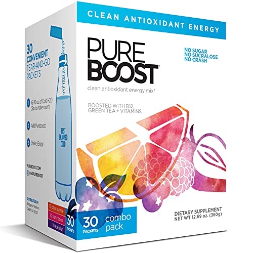 Pureboost Clean Energy Drink Mix + Immune System Support. Sugar-Free Energy...