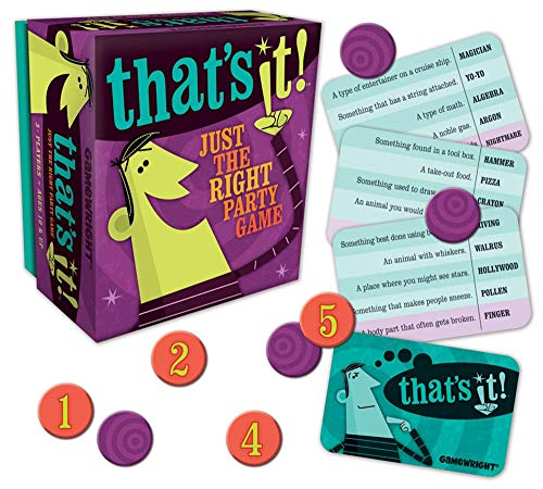 Gamewright That's It! Just The Right Party Game Multi-colored, 5'