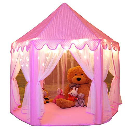 Monobeach Princess Tent Girls Large Playhouse Kids Castle Play Tent with...