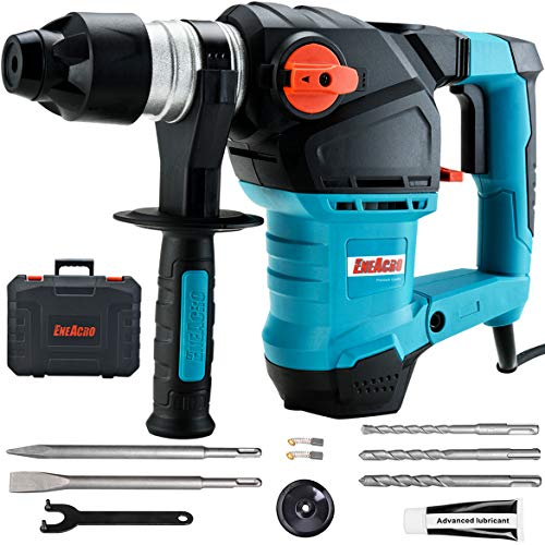 ENEACRO 1-1/4 Inch SDS-Plus 12.5 Amp Heavy Duty Rotary Hammer Drill, Safety...