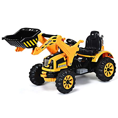Costzon 12V Battery Powered Kids Ride On Excavator, Electric Truck with...