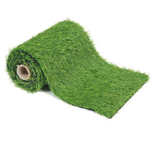 EcoMatrix Artificial Grass Table Runners Fake Grass Tabletop Synthetic...