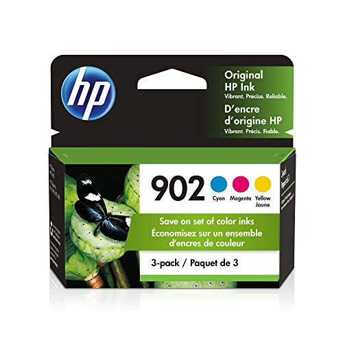 HP 902 | 3 Ink Cartridges | Cyan, Magenta, Yellow | Works with HP OfficeJet...