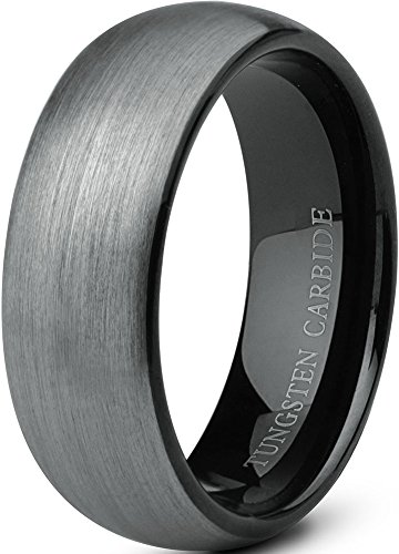 Jstyle Jewelry Tungsten Rings for Men Wedding Band Black Ring 8mm …...