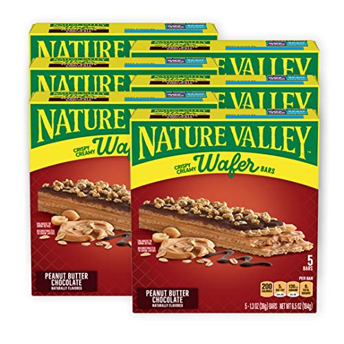 Nature Valley Crispy Creamy Wafer Bar, Peanut Butter Chocolate, 5 ct, 6.5...