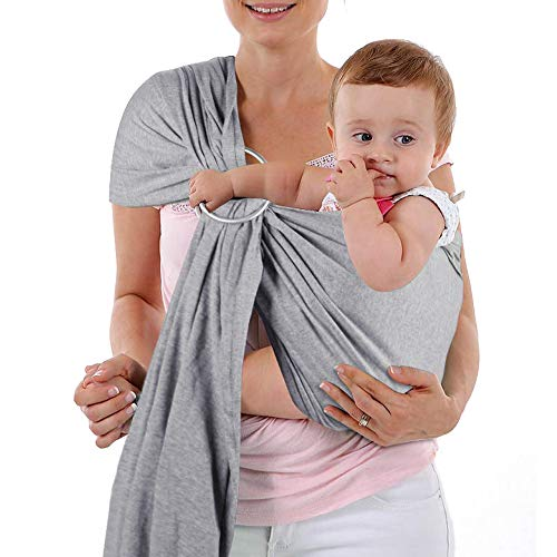 Baby Wrap Carrier and Ring Sling, Adjustable Mesh Baby Wrap for Infant,...