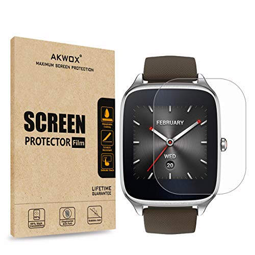 [6-Pack] Screen Protector for ASUS ZenWatch 2-1.6 Inch, AKWOX Full Coverage...