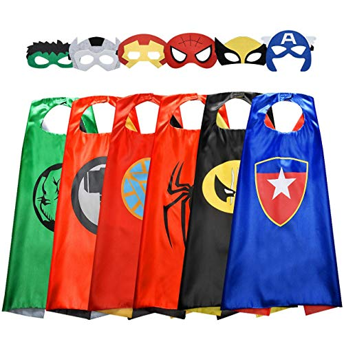 ROKO Superhero Capes for Kids Cool Halloween Costume Cosplay Festival Party...