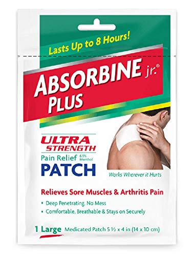 (Pack of 8) Absorbine Plus Jr, Ultra Strength Pain Relief Patch, Size...