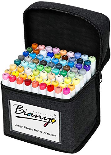 Bianyo Alcohol-Based Dual Tip Art Markers, Classic Series Set of 72, Travel...