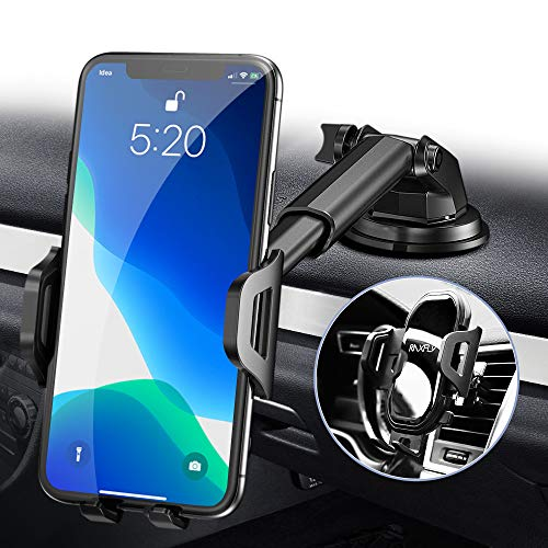 Phone Car Holder Mount - RAXFLY Windshield/Air Vent/Dashboard Cell Car...