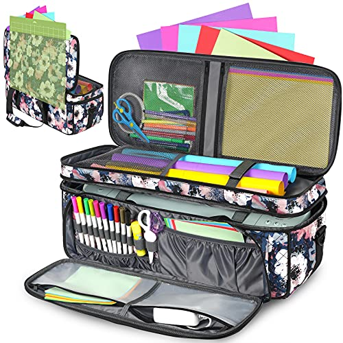 Double-Layer Carrying Case for Cricut Die Cut Machine, Water-Resistant...