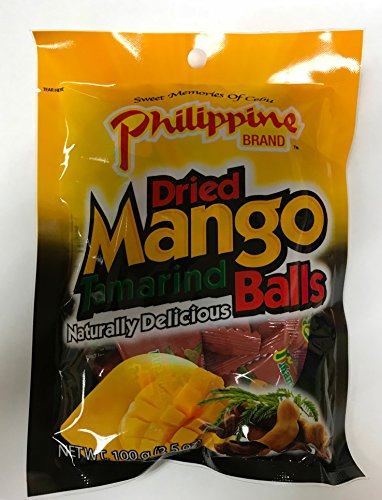 Philippine Brand Dried Mango Tamarind Balls, 3.53-Ounces Pouches (Pack of...