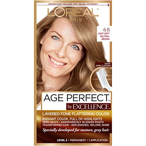 L'Oreal Paris ExcellenceAge Perfect Layered Tone Flattering Color, 6B Light...