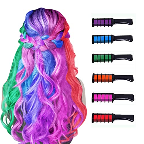 New Hair Chalk Comb Temporary Hair Color Dye for Girls Kids, Washable Hair...