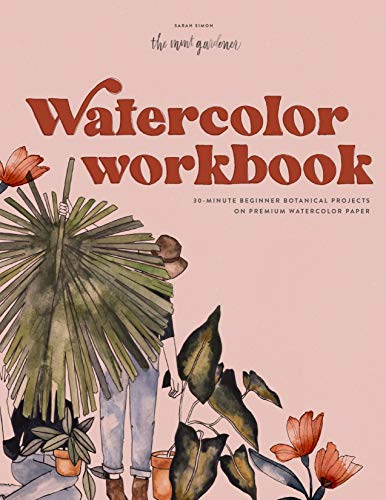 Watercolor Workbook: 30-Minute Beginner Botanical Projects on Premium...