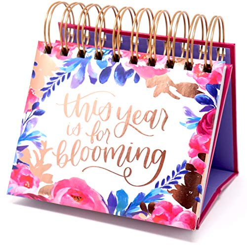 bloom daily planners Undated Perpetual Desk Easel / Inspirational Standing...