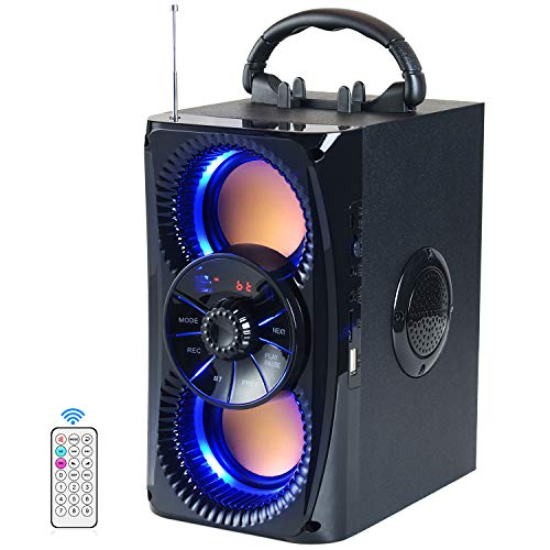 Bluetooth Speaker, Portable Wireless Speakers with Lights, 2 Double...