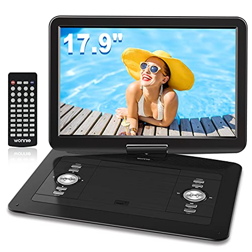 WONNIE 17.9'' Large Portable DVD/CD Player with 6 Hrs 5000mAH...