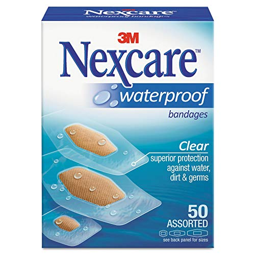 Nexcare - 9324 Waterproof Bandage, Assorted Size, Clear (packaging may...