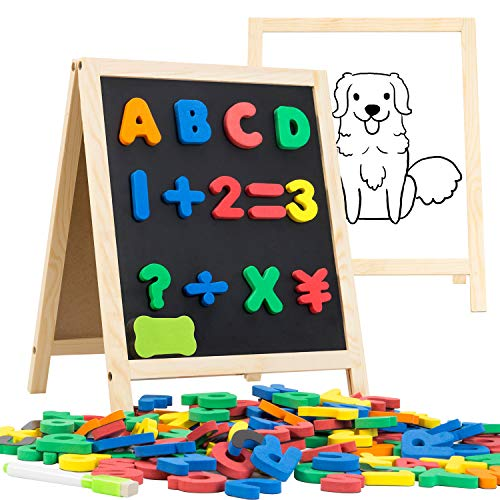 INNOCHEER Magnetic Letters and Numbers with Easel for Kids- 133 Pieces...