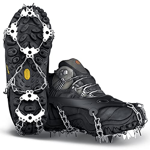Wirezoll Crampons, Stainless Steel Ice Traction Cleats for Snow Boots and...