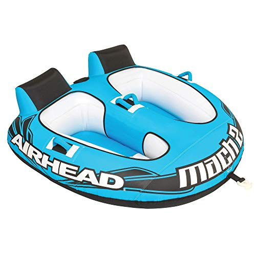 Airhead Mach 2   1-2 Rider Towable Tube for Boating , Blue
