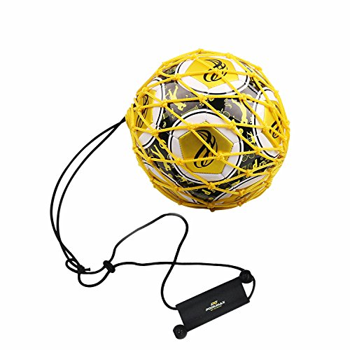PodiuMax Handle Solo Soccer Kick Trainer with New Ball Locked Net Design,...