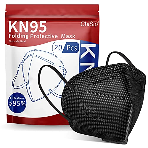 ChiSip KN95 Face Mask, 5-Ply Cup Dust Safety Masks, Breathable Protection...