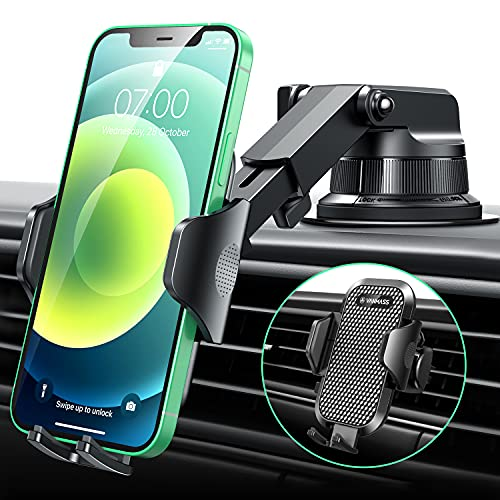 [2021 Upgraded] VANMASS Car Phone Mount [Super Suction Cup] Dashboard Phone...