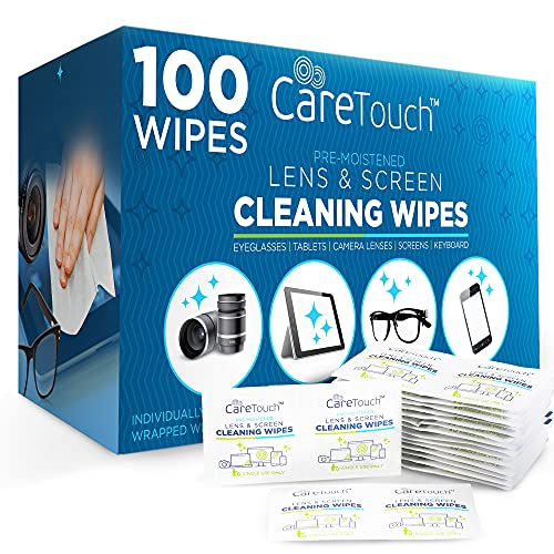 Care Touch Lens Cleaning Wipes, 100 Pre-Moistened and Individually Wrapped...