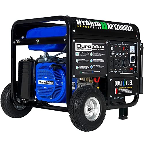 DuroMax XP12000EH Generator-12000 Watt Gas or Propane Powered Home Back Up...