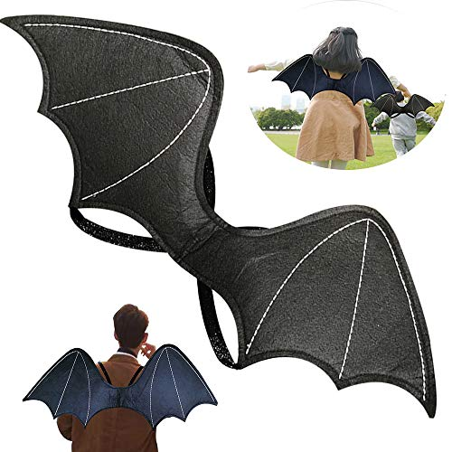 Bat Wings Child Fake Bat Backpack Realistic Scary Prank Props for...