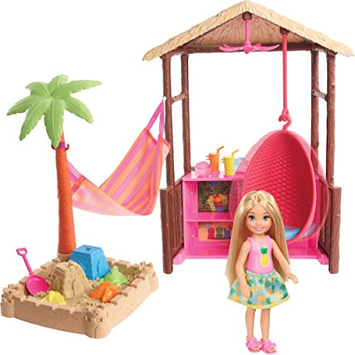 Barbie Chelsea Doll and Tiki Hut Playset with 6-inch Blonde Doll, Hut with...