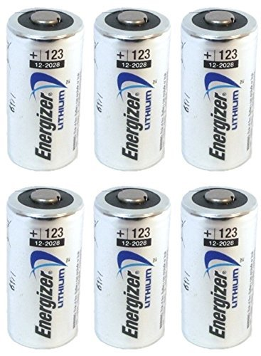 Energizer 123 6 Lithium Batteries - Pack of 6 (Silver)
