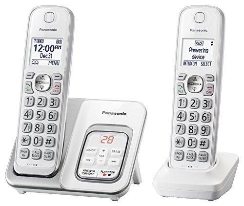 Panasonic DECT 6.0 Expandable Cordless Phone with Answering Machine and...