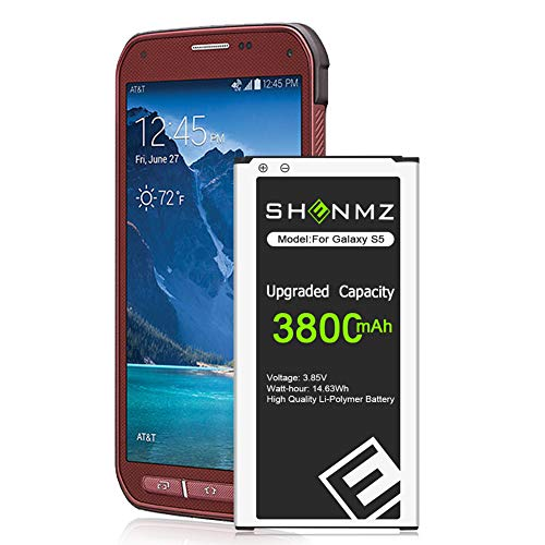 Galaxy S5 Active Battery,[Upgraded] 3800mAh Li-ion Replacement Battery for...