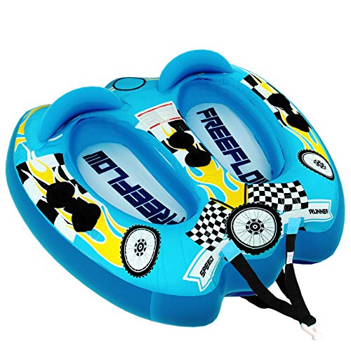 Watersports Inflatable Towable Booster Tube - Two Person Water Boating...