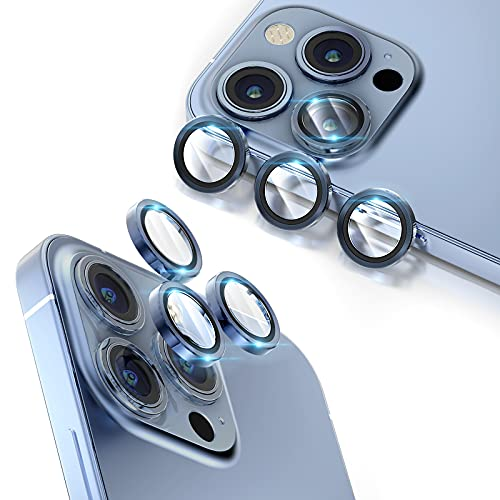 TOCOL [6 Pack] Camera Lens Protector Compatible with iPhone 13 Pro Max &...