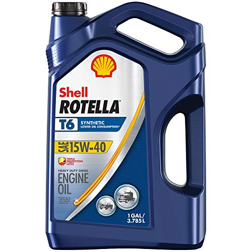 Shell Rotella T6 Full Synthetic 15W-40 Diesel Engine Oil (1-Gallon, Case of...