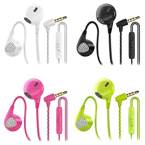 Headphones Heavy Bass Stereo Earphones Earbuds Noise Isolating Tangle Free...