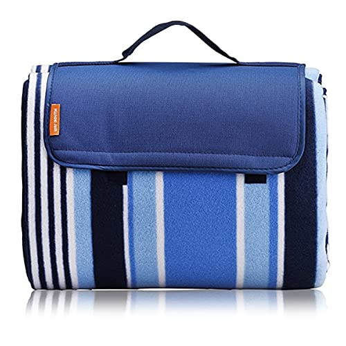 Extra Large Picnic Outdoor Blankets,79' X 79' Picnic Mat Tote for The...