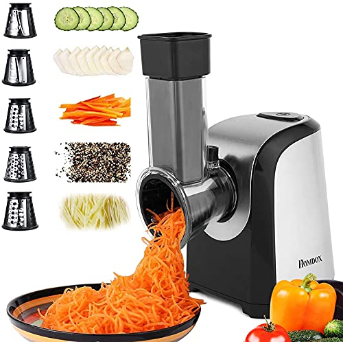 Homdox Electric Cheese Grater, Professional Salad Shooter Electric Slicer...