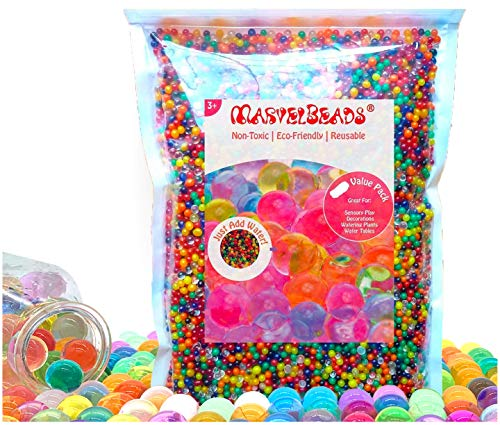 MarvelBeads Water Beads Non-Toxic (Half Pound Refill) Rainbow Mix for...