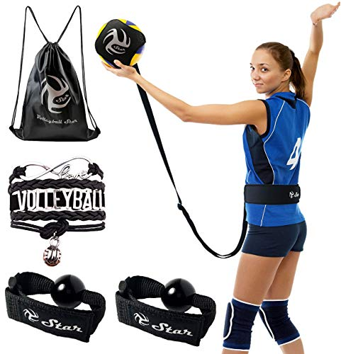 Volleyball Star Training Equipment - 1 Ball Rebounder for Solo Practice...