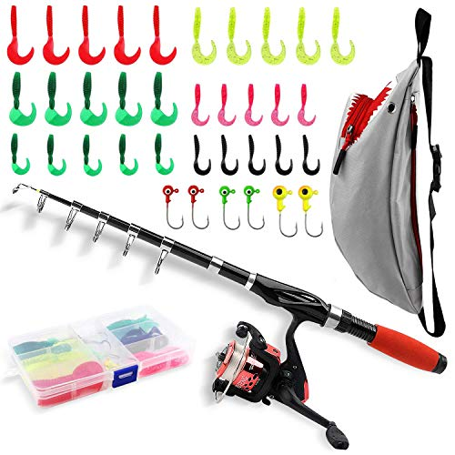 Fishing Rod Reel Combos with Shark Fishing Bag All-in-One 1.52M/5FT...